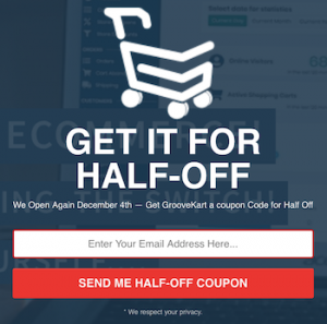 Get The GrooveKart e-Commerce Platform When It Goes Live On December 4th ... For Half Price!