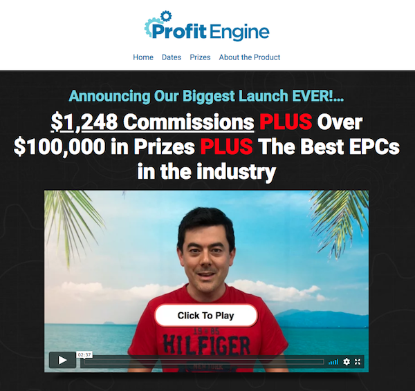 Mark Ling, Gerry Cramer + Rob Jones - Profit Engine Launch High Ticket ClickBank Affiliate Program JV Invite Video - Pre-Launch Begins: Tuesday, June 5th 2018 - Launch Day: Tuesday, June 12th 2018