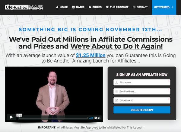 Sean Donahoe - UnHustled 6-Figure Freedom Launch Affiliate Program JV Invite Video